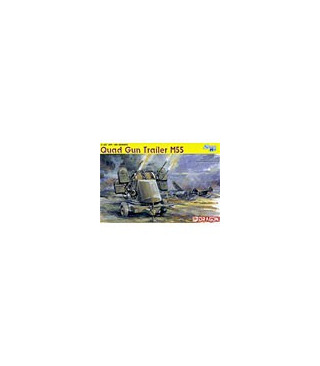 1:35 Dragon Tank Model Kits Quad Gun Trailer M55 Smart Kit 6421