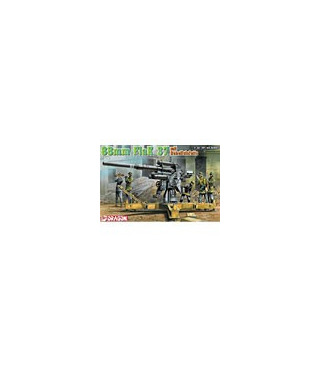 1:35 Dragon Tank Model Kit 8.8cm FlaK 37 mit Behelfslafette 6523