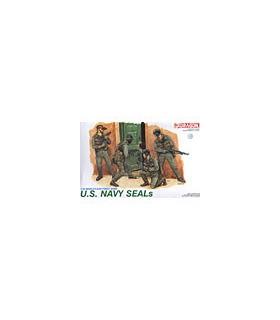 1:35 Dragon Military Model Kit US Navy SEALS Figures Set 3017