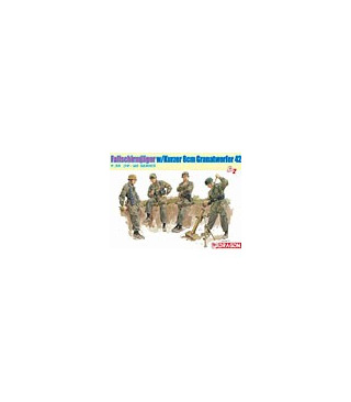 1:35 Dragon Fallschirmjäger 8cm Gr.W.42 Mortar Team 6373
