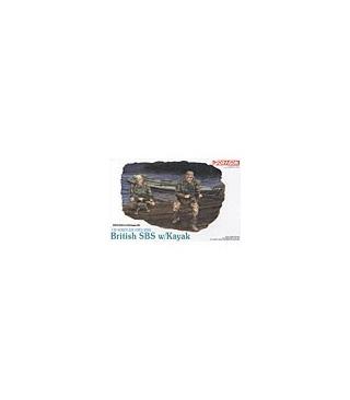 1:35 Dragon Military Model Kit British SAS with Kayak 3023
