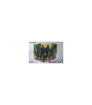 1:35 Dragon Military Model Kit British SAS 4 Figures Set 6501 [S