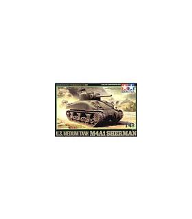 1:48 Tamiya Model Kit US Medium Tank M4A1 Sherman 32523