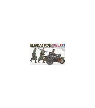 1:35 Tamiya Model Kit Bmw R75 With Side Car 35016