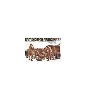 1:35 Tamiya Model Kit British 25Pounder Field Gun 35046