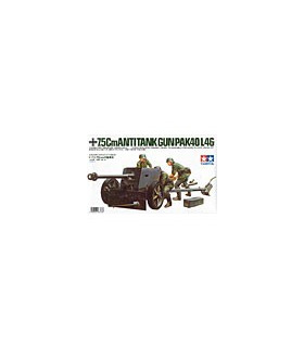 1:35 Tamiya Model Kit 7.5cm Anti Tank Gun Pak40/L46 35047