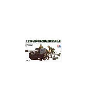 1:35 Tamiya Model Kit 7.5cm Anti Tank Gun Pak40/L46 35047