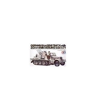 1:35 Tamiya Half Track Sd.Kfz.7/1 20mm Flakvierling 35050