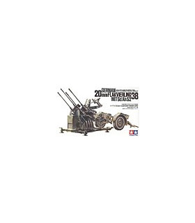 1:35 Tamiya Model Kit 20mm Flakvierling 38 35091