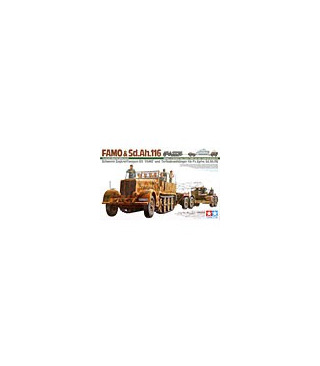1:35 Tamiya Heavy Half Track Famo And Tank Transporter 35246