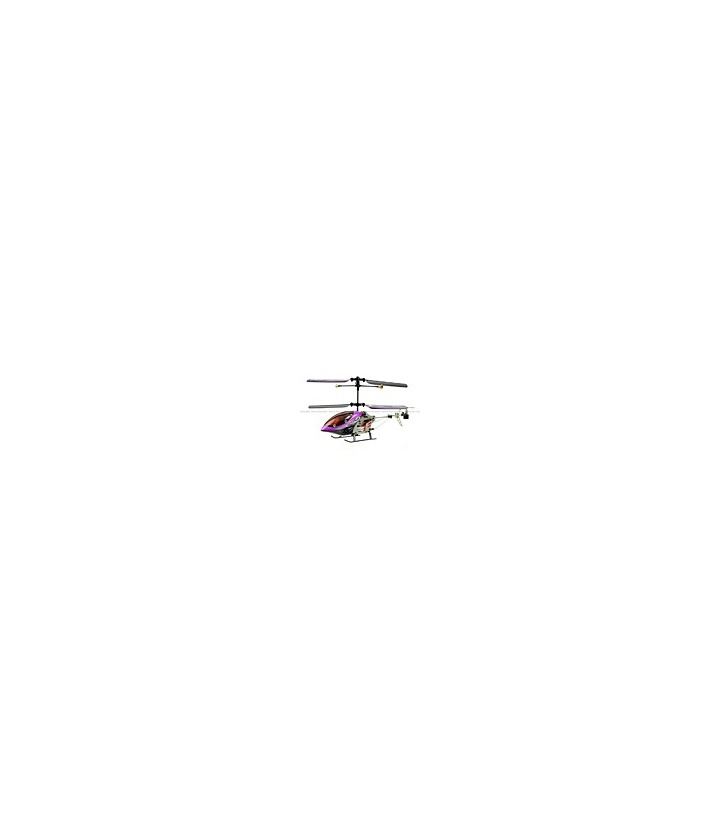SanHuan 6027-1 Mini Metal 3CH RC Helicopter RTF w/ Gyro Purple