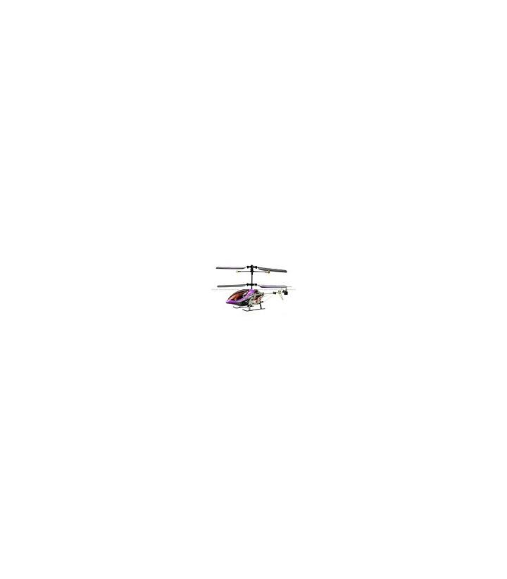 SanHuan 6027-1 Mini Metal 3CH RC Helicopter RTF w/ Gyro Purple