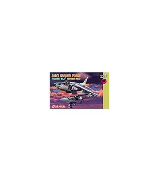 1:144 Dragon Model Kits RAF Harrier Gr7 + Royal Navy 4603