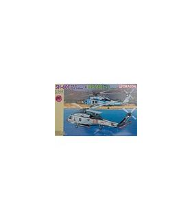 1:144 Dragon Model Kits SH-60F & HH-60H HS-6 Indians 4619