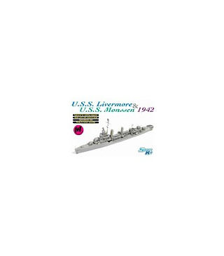 1:700 Dragon USS Livermore & USS Monssen 1942 (Twin Pack) 7088