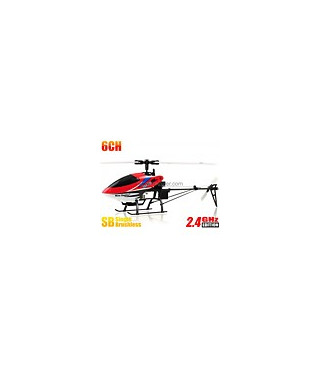 Nine Eagles 318A 3D 6CH RC Helicopter RTF 2.4GHz w/ Gyro Red