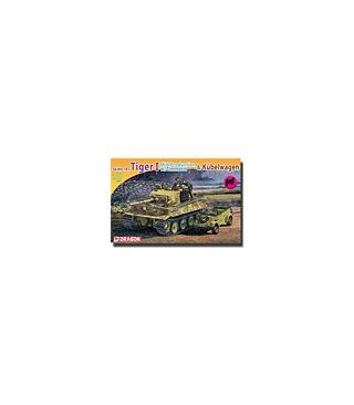 1:72 Dragon Tiger I Mid Production w/Zimmerit & Kubelwagen 7434