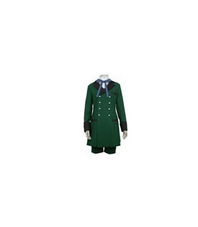 Black Butler Kuroshitsuji Ciel Phantomhive Army Green Costume