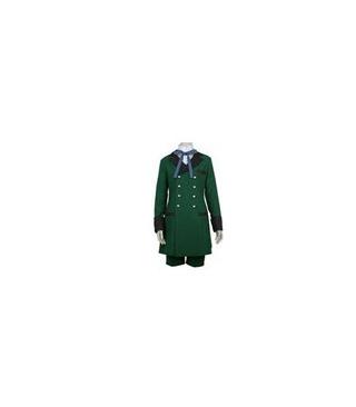 Negro de Butler Kuroshitsuji Ciel Phantomhive Ejército Verde cos