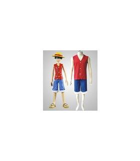 Un mono Piece D. Luffy cosplay