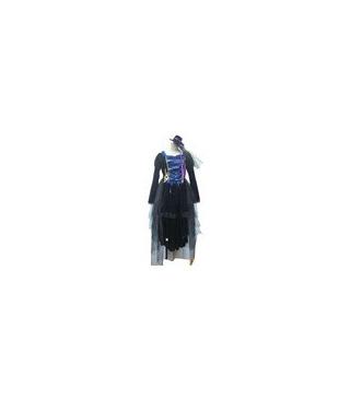 Vocaloid vestido azul cosplay