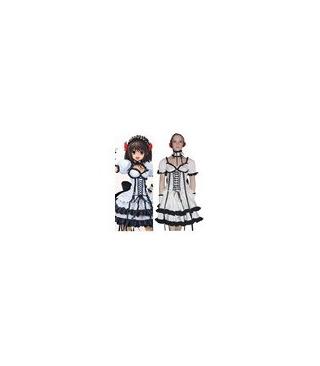 Suzumiya Haruhi Suzumiya BlaHaruhi Negro y Blanco Cosplay Lolita