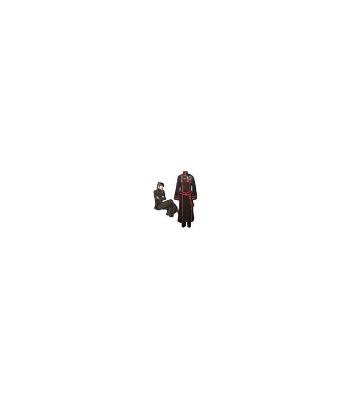 D.Gray-man Kanda Yuu Y Negro cosplay Roja