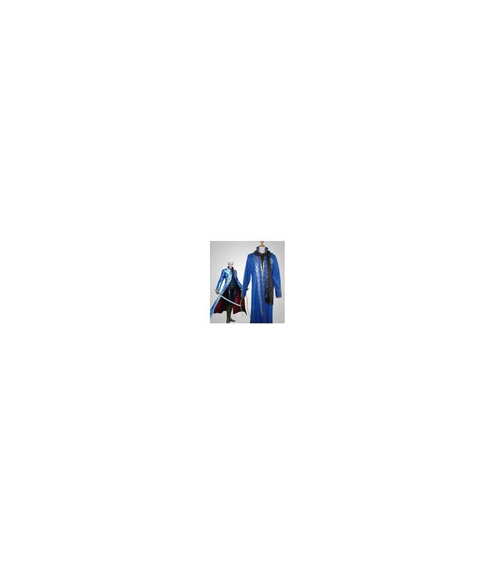 Devil May Cry Ver.3 vestuario Virgilio cosplay Azul