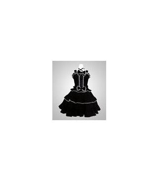 Blanco y negro gótico vestido de Cosplay Lolita