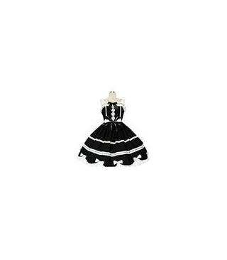 El mejor vestido de Gothic Lolita Blanco Y Negro