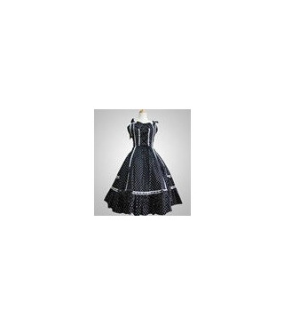 White Polka Dot Dress Lolita Cosplay