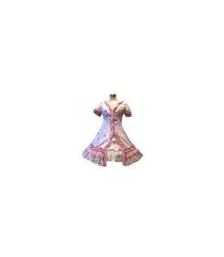 Estilo jardín rosado de la flor rota Lolita vestido