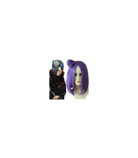 Naruto Konan cosplay peluca púrpura