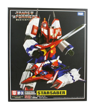 Transformers MP-24 Masterpiece Star Saber With Collector Coin