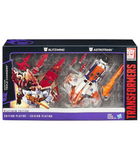 Transformers G1 Blitzwing Astrotrain Platinum Edition