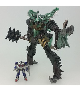 Transformers Movie 10th Anniversary Figure MB-09 Grimlock With Optimus Prime