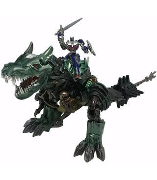 Transformers Movie 10th Anniversary Figure MB-09 Grimlock With Optimus Prime