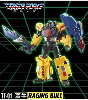 Transformadores TFC Toys TFCToys Trinity Force TF-01 Raging Bull