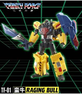 Transformers TFC Toys TFCToys Trinity Force TF-01 Raging Bull
