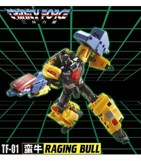 Transformatoren TFC Toys TFCToys Trinity Force TF-01 Raging Bull