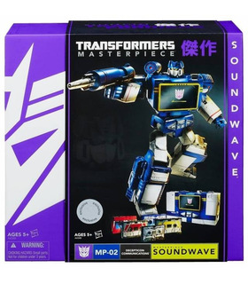 Takara Tomy Transformers Masterpiece Soundwave with 5 Cassettes