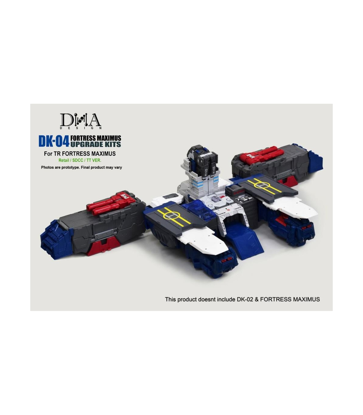 DNA DK-04 Upgrade Kits for TR Fortress Maximus Transformered Robot Kit Toys