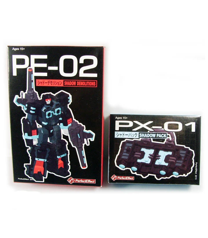 Transformers PX-01 Shadow Pack PE-02 Shadow Demolitions [SOLD OUT]