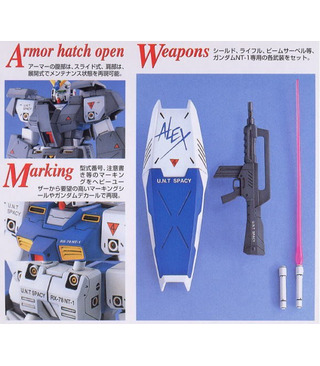 Gundam Master Grade Wing Model Kit MG RX-78NT-1 Alex