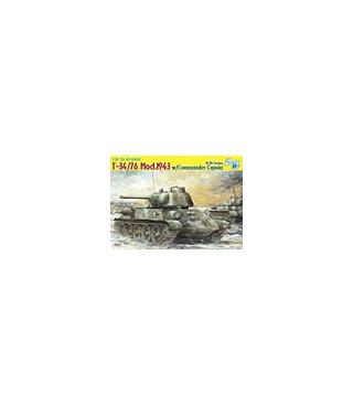 1:35 Dragon T-34/76 Mod. 1943 w/Commander Cupola Smart Kit 6564