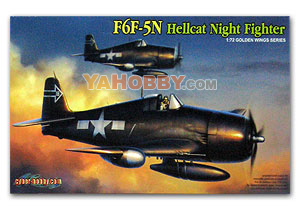 1:72 Cyber Model Kits Hobby F6F-5N Hellcat - Wing Tech Series 5080