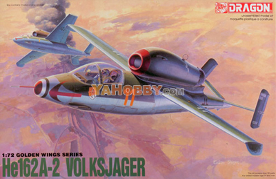 1:72 Dragon Model Kits Heinkel He162A-2 Volksjager 5001