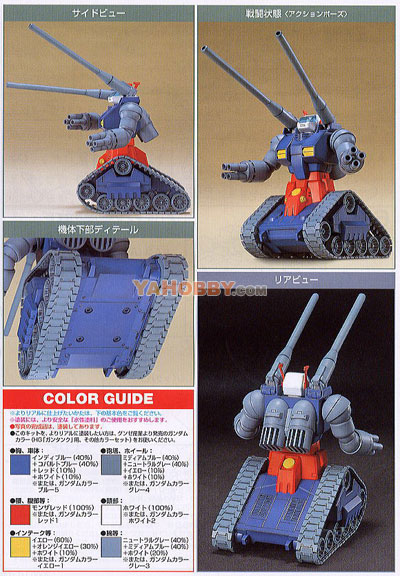Gundam HGUC 1/144 Model Kit RX-75 Guntank