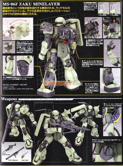 Gundam Master Grade Model Kit MS-06F/ J ZAKU II Minelayer