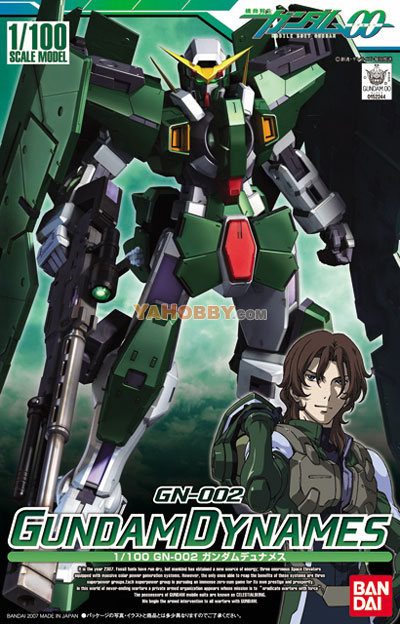 Gundam 00 1/100 Model Kit GN-002 Gundam Dynames